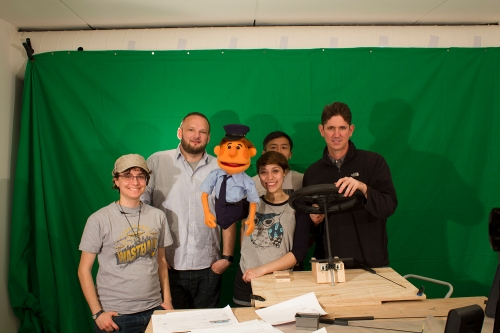 Behind-the-scenes on our puppet shoot.